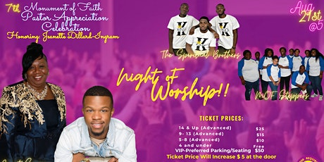 Pastor Appreciation Worship Service For Pastor Jeanette Dillard-Ingram tickets