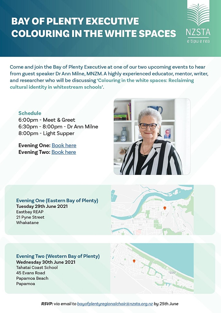 NZSTA Bay Of Plenty Region Presents Colouring in the white spaces - Eastern image