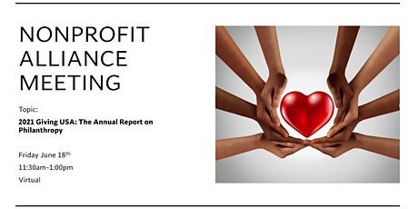 Nonprofit Alliance: 2021 Giving USA: The Annual Report on Philanthropy tickets