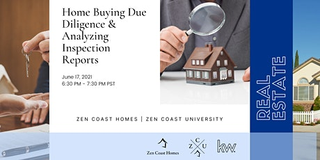Home Buying Due Diligence & Analyzing Inspection Reports tickets