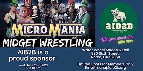 AIB2B Sponsors Micro Mania Midget Wrestling tickets