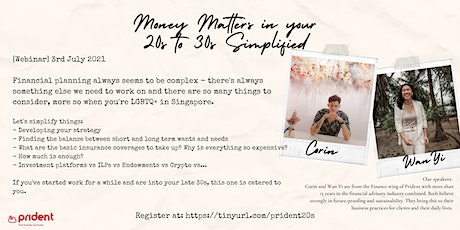 Money Matters in your  20s to 30s simplified tickets