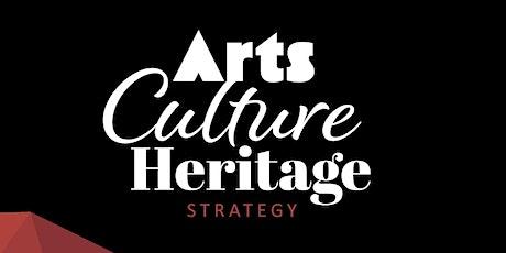 Creative Communities- Arts, Culture & Heritage Strategy Workshop (Online) tickets