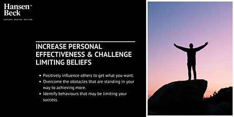 Masterclass - Increase Personal Effectiveness & Challenge Limiting Beliefs tickets