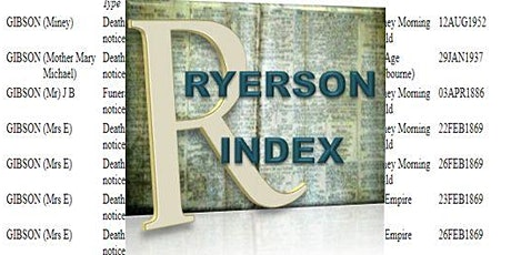 The Ryerson Index: where we are, and where we are going? tickets