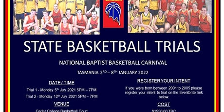 South Australian Baptist Basketball Carnival Trials tickets