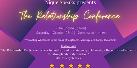 The  Relationship Conference (Encore) tickets