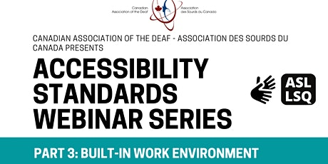 Accessibility Standards Part 3 tickets