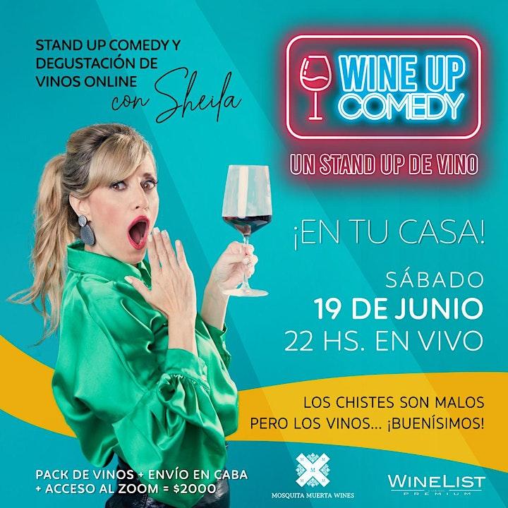 Imagen de Wine Up Comedy EN TU CASA ¡Nueva función!