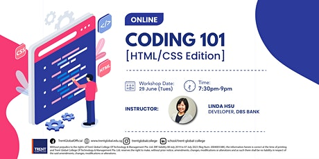 Coding 101 Workshop, HTML/CSS (For Beginners) tickets