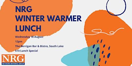 NRG Winter Warmer Lunch tickets