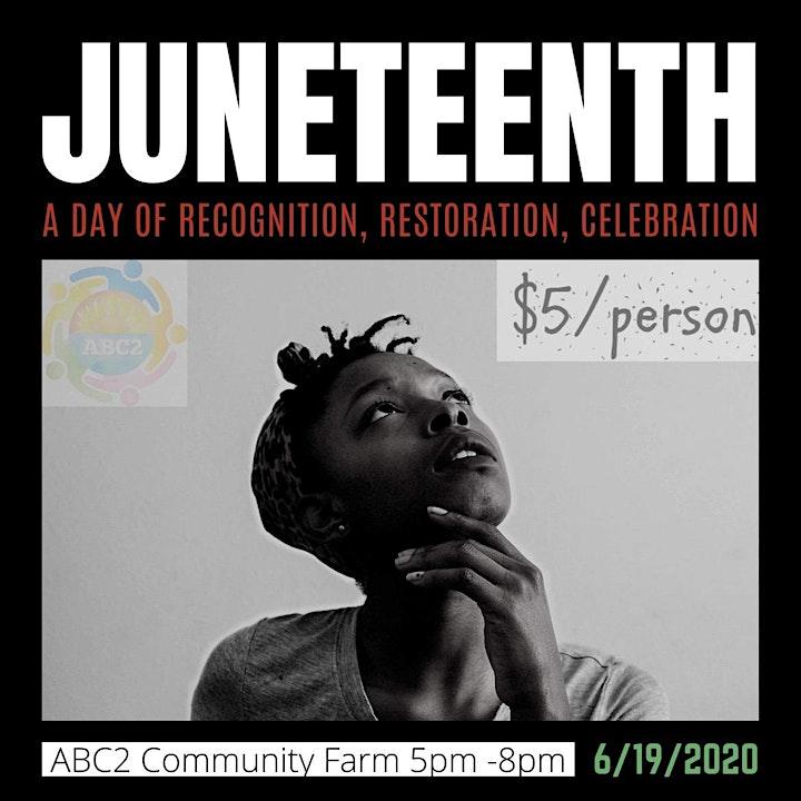 Juneteenth, a day of recognition, restoration, celebration image