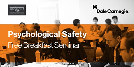 Psychological Safety - Free Breakfast Business Seminar tickets