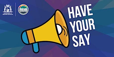 Consumer Protection - Regional Community Forum (Busselton) tickets