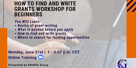Grant Writing and Research Workshop For Beginners tickets
