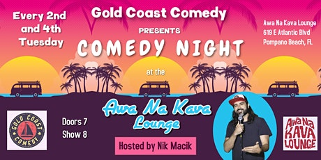Comedy Night at Awa Na Kava Lounge tickets