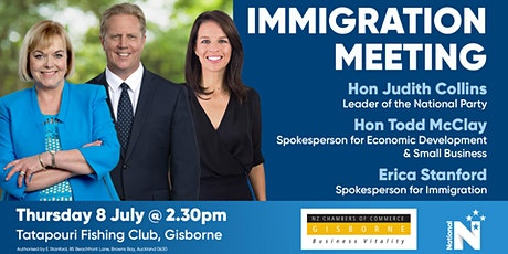 Immigration Meeting - National Party tickets