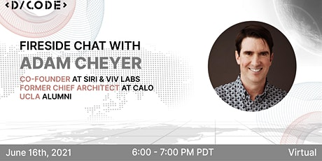 Fireside Chat With Adam Cheyer, co-founder  of Siri and Viv Labs tickets