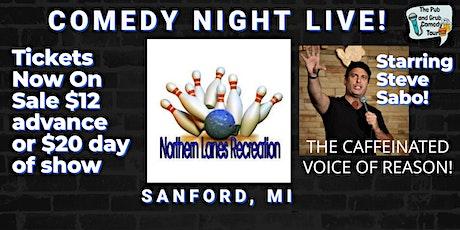 SANFORD, MI | Pub & Grub Comedy with Steve Sabo! tickets
