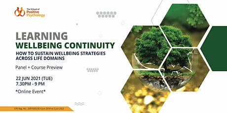 Panel + Preview: Learning Wellbeing Continuity tickets