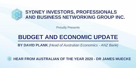 Budget & Economic Update by David Plank - Head of Australian Economics ANZ tickets