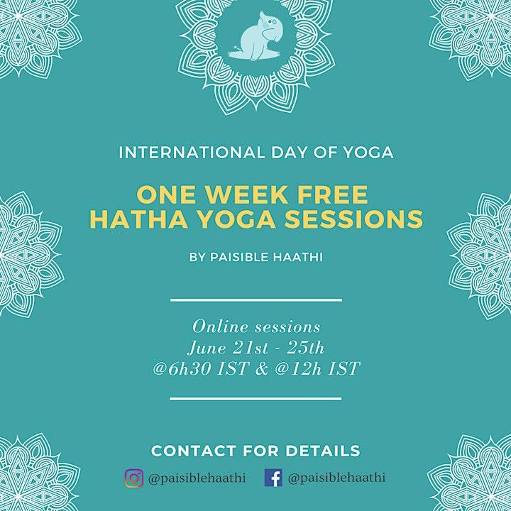 Free - 5 days  Hatha Yoga sessions image