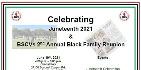 BSCV 2nd Annual Black Family Reunion & Juneteenth Celebration tickets