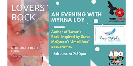 Anansi Reading Group hosts an Evening with Myrna Loy Author of Lovers Rock tickets