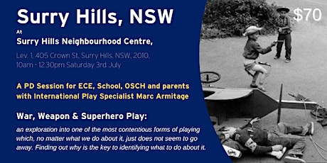 War, Weapon and Superhero Play at Surry Hills NSW tickets