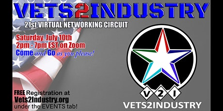 21st VETS2INDUSTRY Virtual Networking Circuit Event tickets