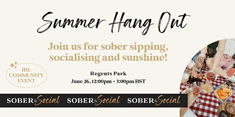 Sober & Social Summer Hang Out tickets