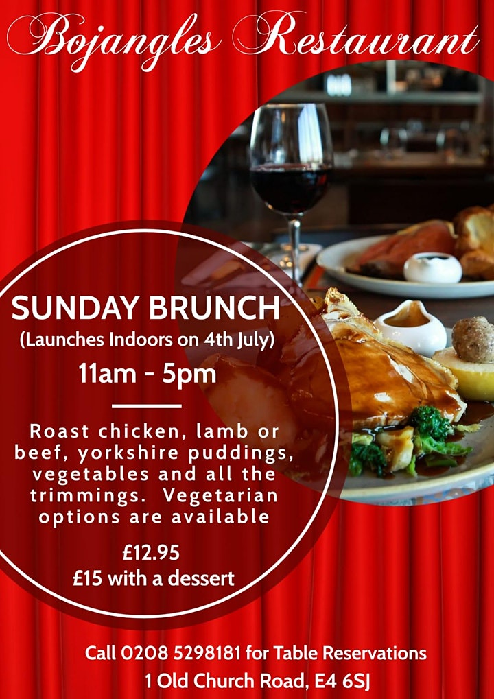 Breakfast Brunch in Chingford – Dine in at Bojangles Restaurant this Sunday image