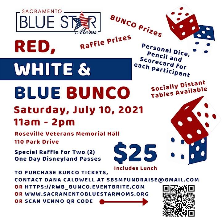 RED, WHITE & BLUE BUNCO image
