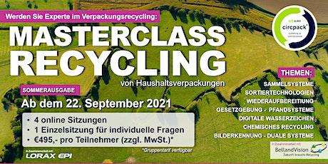 Masterclass Recycling - Deutsche Ausgabe tickets