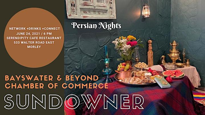 BBCC SUNDOWNER - JUNE 2021 - PERSIAN NIGHTS image