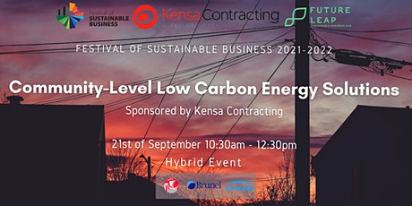 Community-Level Low Carbon Energy Solutions [Conference FoSB 2021-2022] tickets