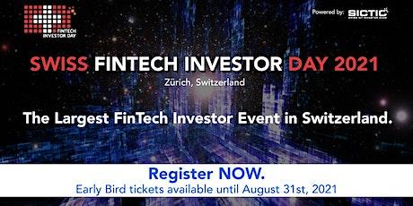 Swiss Fintech Investor Day 2021 tickets