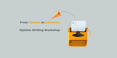 Finance industry special: Opinion writing workshop - Write your first draft tickets