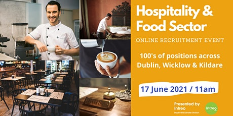 Hospitality and Food Sector  Recruitment Event 2021 - tickets