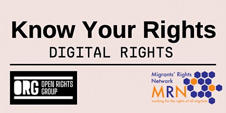 Know Your Rights - Digital Rights Training tickets