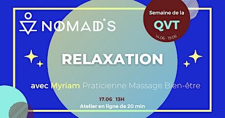 SQVT ·  Atelier de Relaxation billets