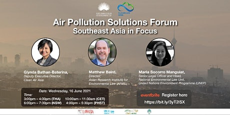 Air Pollution Solutions Forum - Southeast Asia in tickets