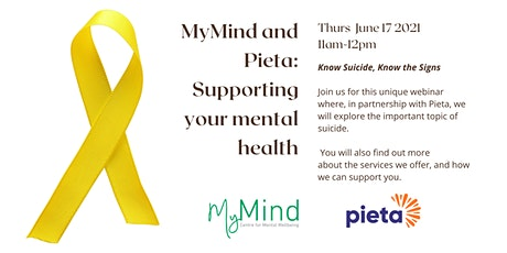 MyMind and Pieta: Supporting your Mental Health tickets