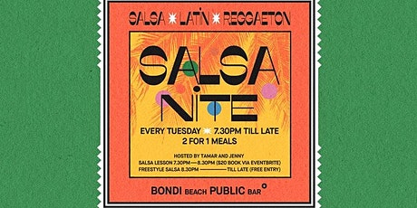 Bondi Beach Public Bar Salsa Class tickets