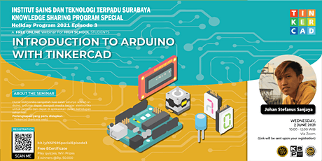 Introduction to Arduino with Tinkercad. 30 June 2021. 10.00 WIB tickets