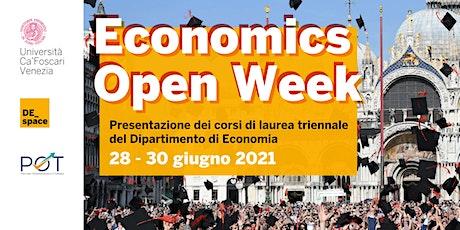 Economics Open Week 28-30 giugno 2021 biglietti