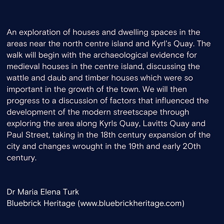 Dr Elena Turk HOUSES AND DWELLING PLACES:living near Kyrls Quay in the past image