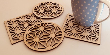 Make Geometric Wooden Bookmarks and Coasters tickets