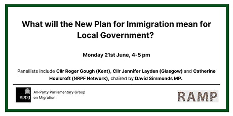APPG: What will the New Plan for Immigration mean for Local Government? tickets