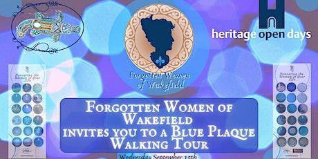 Forgotten Women of Wakefield Blue Plaque Walk tickets